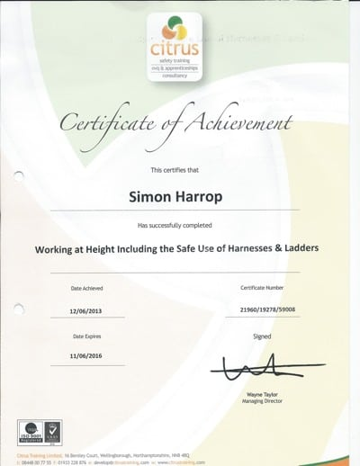 Citrus Safety Training Certificate